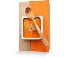 Pumpkin soup Greeting Card
