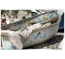 Weathered Boat Poster