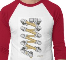 Copper and Chrome Animation - FredPereiraStudios.com_Page_16 Men's Baseball ¾ T-Shirt