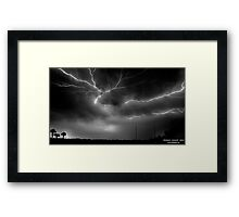 Cracks in the Sky Framed Print