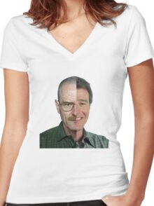Malcom in the Middle Vs Breaking Bad Women's Fitted V-Neck T-Shirt