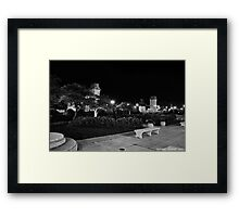 Chicago Park @ Night in B&W Framed Print