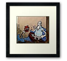Lisbon Graffiti (tees, cases and prints) Framed Print