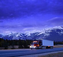 Semi Trailer Truck by printscapes