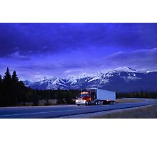 Semi Trailer Truck Photographic Print