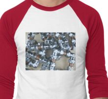 Copper and Chrome Smart Art - FredPereiraStudios.com_Page_04 Men's Baseball ¾ T-Shirt