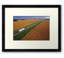 Truck Driving Through the Countryside Framed Print