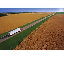 Truck Driving Through the Countryside Photographic Print