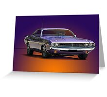 1971 Dodge Challenger R/T Greeting Card