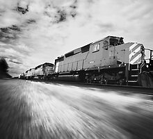 Fast Speeding Train by printscapes