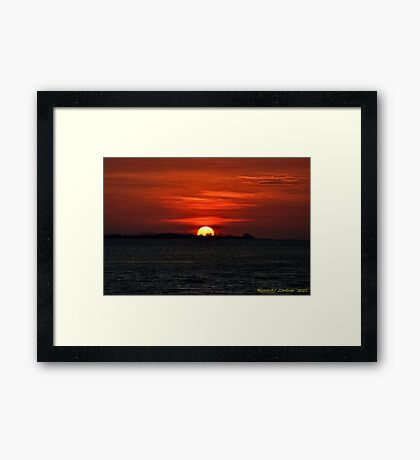 Exquisite Sunset Framed Print