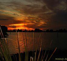 Fiery Christmas Sunset by Zzenco