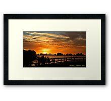 Golden Christmas Sunset Framed Print