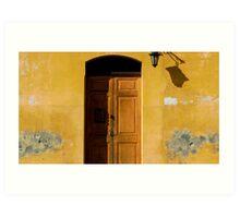 Antigua Lemon Door Art Print