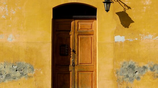 Antigua Lemon Door by SysterS