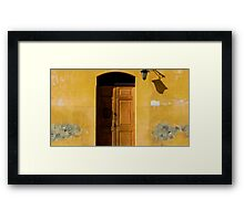 Antigua Lemon Door Framed Print