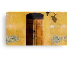 Antigua Lemon Door Metal Print