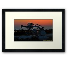 Old Plow in After Glow Framed Print