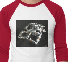 Copper and Chrome Smart Art - FredPereiraStudios.com_Page_11 Men's Baseball ¾ T-Shirt