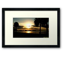 Prismatic Sunset Framed Print