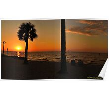 Relaxing at Sunset Poster