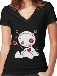 Spooky & Cute Women's Fitted V-Neck T-Shirt