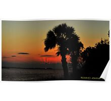 Sunset Behind The Clouds Poster