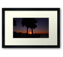 Sunset Between The Palms Framed Print