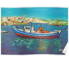 Fishing Boat, Koroni, Greece Poster