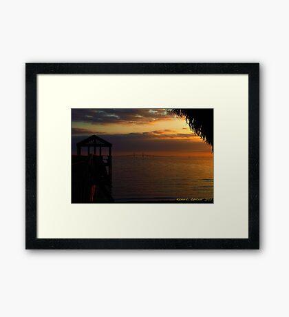 Sunshine Skyway At Sunset Framed Print