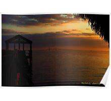 Sunshine Skyway At Sunset Poster