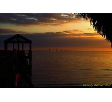 Sunshine Skyway At Sunset Photographic Print