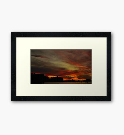 Swirls Of After Glow Framed Print