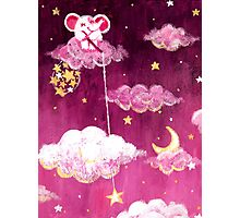 Catching Stars - Rondy the Elephant collecting bright stars Photographic Print