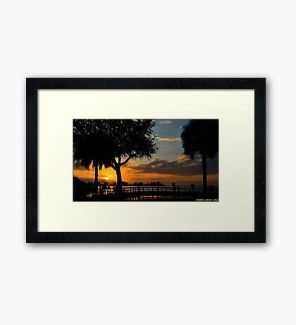 Warm Glowing Sunset Framed Print