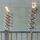 Copper and Chrome Slinki Tiki Torch - FredPereiraStudios.com_Page_03 by Fred Pereira
