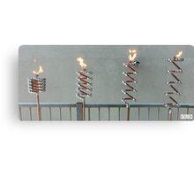 Copper and Chrome Slinki Tiki Torch - FredPereiraStudios.com_Page_03 Canvas Print