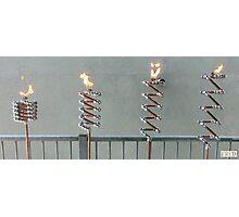 Copper and Chrome Slinki Tiki Torch - FredPereiraStudios.com_Page_03 Photographic Print
