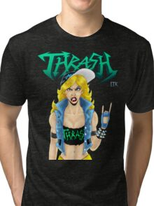 Old-School Thrash Metal Chick Tri-blend T-Shirt