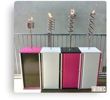 Copper and Chrome Slinki Tiki Torch - FredPereiraStudios.com_Page_04 Canvas Print