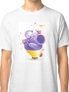 Drummer - Rondy the Elephant using his belly like a drum Classic T-Shirt