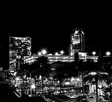 St Petersburg @ Night in B&W by Zzenco