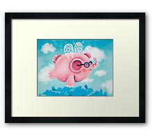 Elephant Out Of A Fly - Rondy the Elephant can fly Framed Print