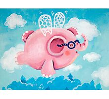 Elephant Out Of A Fly - Rondy the Elephant can fly Photographic Print