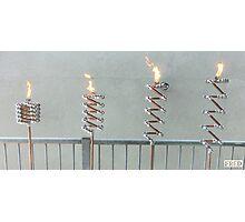 Copper and Chrome Slinki Tiki Torch - FredPereiraStudios.com_Page_05 Photographic Print