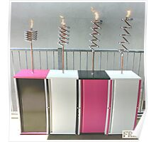 Copper and Chrome Slinki Tiki Torch - FredPereiraStudios.com_Page_06 Poster