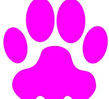 Pink Big Cat Paw Print by kwg2200