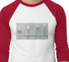 Copper and Chrome Slinki Tiki Torch - FredPereiraStudios.com_Page_07 Men's Baseball ¾ T-Shirt