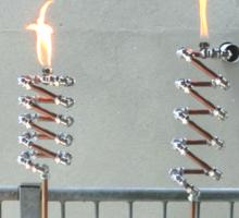 Copper and Chrome Slinki Tiki Torch - FredPereiraStudios.com_Page_07 Sticker