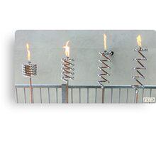 Copper and Chrome Slinki Tiki Torch - FredPereiraStudios.com_Page_07 Canvas Print